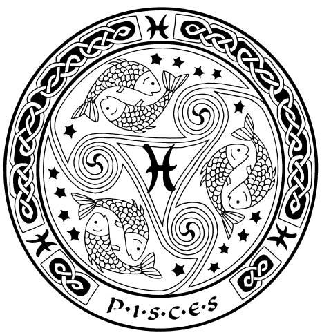 Pisces Zodiac Sign. Celtic Art 3 - The Second